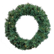 "36"" Lighted Artificial Orchid Cedar Pine Christmas Wreath"