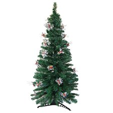 6' Artificial Christmas Tree with Silver Holly