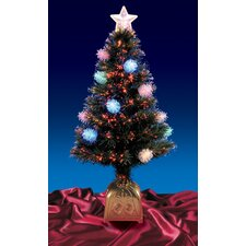 4' Pine Cone Artificial Christmas Tree with LED Multi Light