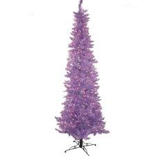 7.5' Vivid Purple Slim Lakewood Spruce Artificial Christmas Tree