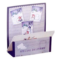Wooden Special Delivery Snowman Christmas Card Holder