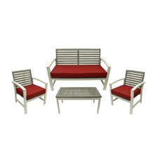 4 Piece Acacia Wood Outdoor Furniture Set