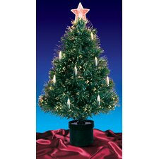 Fiber Optic Artificial Christmas Tree with Candle