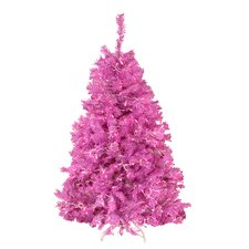 4.5' Orchid Pink Cedar Pine Artificial Christmas Tree with Pink Light