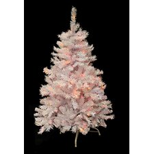 4.5' White Cedar Pine Artificial Christmas Tree with Multi Light