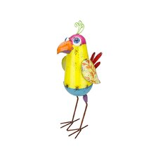Colorful SpeckMetal Bird Figure