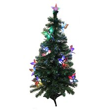 4' Artificial Christmas Tree with Flowers Multi Light