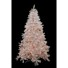 6.5' White Cedar Pine Artificial Christmas Tree with Clear Light