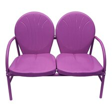 Retro Metal Tulip 2 Seat Double Chair