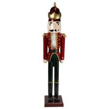 Decorative Velvet Wooden Christmas Nutcracker King
