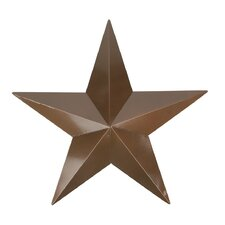 Weathered Patina Copper Country Rustic Star Indoor/Outdoor Wall Decoration