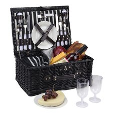 2 Person Hand Woven Willow Insulated Picnic Basket