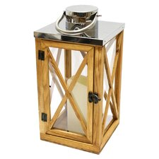 Wood and Stainless Steel Lantern