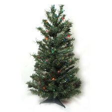 2.5' Pre-Lit Canadian Pine Artificial Christmas Tree with 35 Multi Lights
