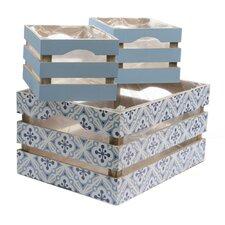 French Countryside 3 Piece Rectangular Wooden Decorative Storage Box Set