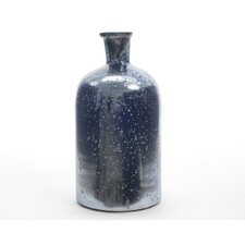 Winter Light Handcrafted Weathered Glass Vase