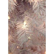 "36"" Lighted Artificial White Cedar Pine Christmas Wreath"