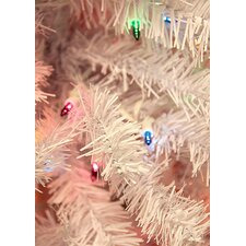 7.5' White Cedar Pine Artificial Christmas Tree with Multi Light