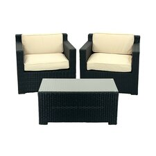 3 Piece Outdoor Patio Furniture Set with Cushions