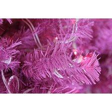 "36"" Lighted Artificial Pink Cedar Pine Christmas Wreath"