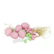29 Piece Painted Floral Spring Easter Egg Ornament Set
