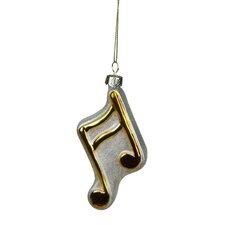 Sixteenth Symbol Music Note Glass Christmas Ornament