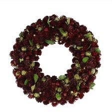 "12"" Pine Cone Artificial Christmas Wreath"