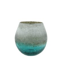 Frosted Hand Blown Decorative Glass Vase
