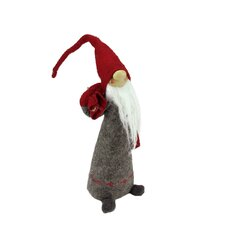 Tall Standing Santa Gnome Carrying Bag on his Shoulder Christmas Figure