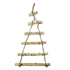 Country Cabin Decorative Wooden Birch Hanging Christmas Card Holder