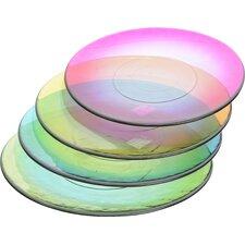 "Fancy Fair 10.5"" Glass Round Plate"