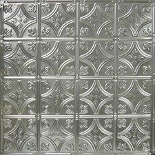 "24"" x 24"" Tin Panel Backsplash Kit in Brushed Satin Nickel"