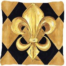 Fleur De Lis New Orleans Indoor/Outdoor Throw Pillow