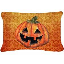October Pumpkin Halloween Indoor/Outdoor Throw Pillow