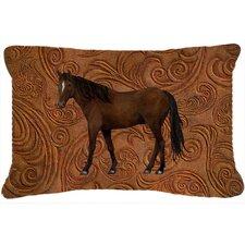 Horse Indoor/Outdoor Throw Pillow