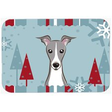Winter Holiday Italian Greyhound Glass Cutting Board