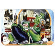 New Orleans Beers with Louisiana Spices Glass Cutting Board