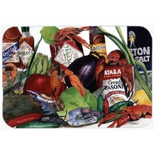 Louisiana Spices and Crawfish Glass Cutting Board