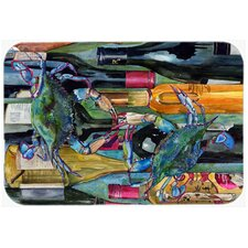 Crab Wine Bottles Glass Cutting Board