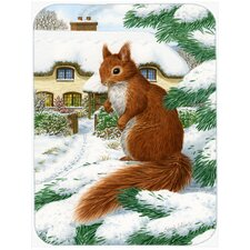 Squirrel and Cottage Glass Cutting Board