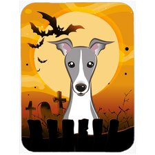 Halloween Italian Greyhound Glass Cutting Board
