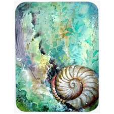 The Treasure of the Surf Shell Glass Cutting Board