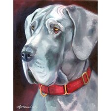 Great Dane Natural Ears Red Collar 2-Sided Garden Flag