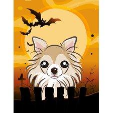 Halloween Chihuahua 2-Sided Garden Flag
