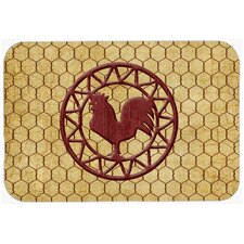 Rooster Chicken Coop Glass Cutting Board