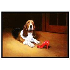 Basset and Shoe Mat