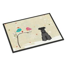 Christmas Presents Between Friends Miniature Schnauzer Doormat