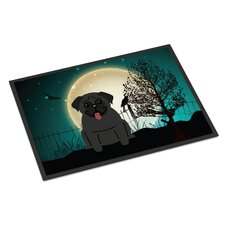 Halloween Scary Pug Doormat