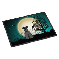 Halloween Scary Miniature Schnauzer Doormat