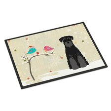 Christmas Presents Between Friends Standard Schnauzer Doormat